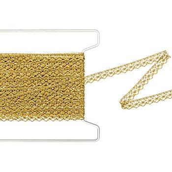 Zacken-Klöppelspitze, gold, Breite 1,3 cm, Länge 5 m