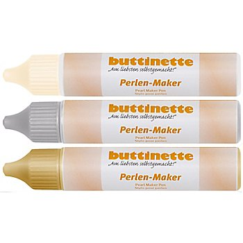 buttinette Perlen-Maker Set 'Edel' 3x 30 ml
