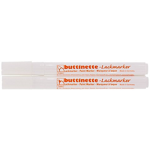 Image of buttinette Lackmarker, weiss