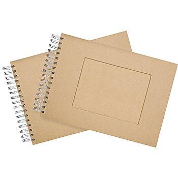 Pappalbum, mit Sichtfenster, 21 x 15 cm, 60 Blatt, 2 Stück