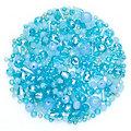 Perles à facettes en verre, turquoise, 3 - 9 mm, 25 g