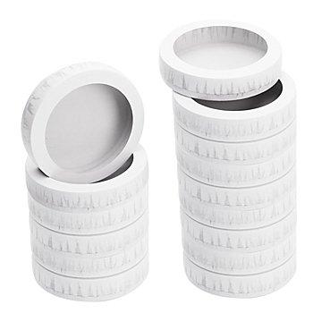 Mini-Laternendeckel und -boden, 11 cm Ø, 25 Stück