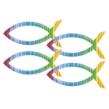 Wachsverzierung 'Fisch Regenbogen'