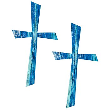Motifs en cire 'croix bleue'