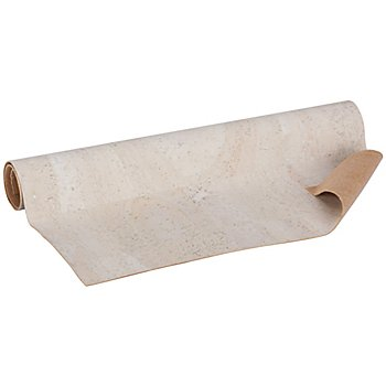 Coupon de tissu en liège, blanc, 34,8 x 50 cm