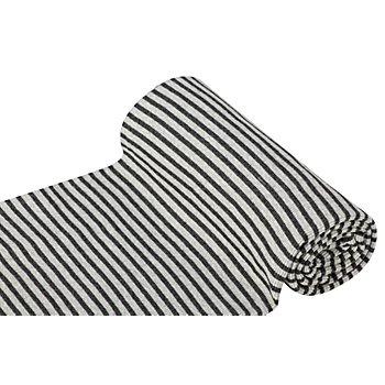 Ringelbündchen 'Comfort', hellgrau/anthrazit-melange