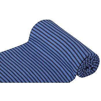 Ringelbündchen 'Comfort', marine/jeans-melange