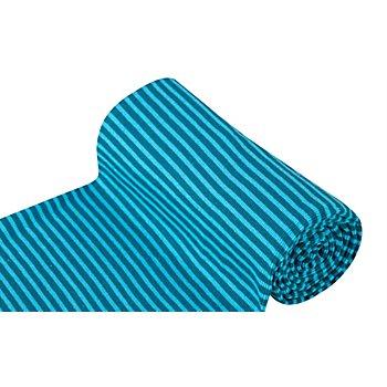 Tissu bord-côte 'Confort', pétrole/turquoise