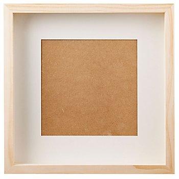 3D-Bilderrahmen aus Holz, mit Scheibe