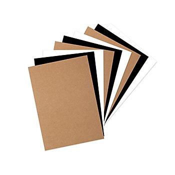Papierblock, weiss-braun-schwarz, 21 x 14,8 cm, 60 Blatt