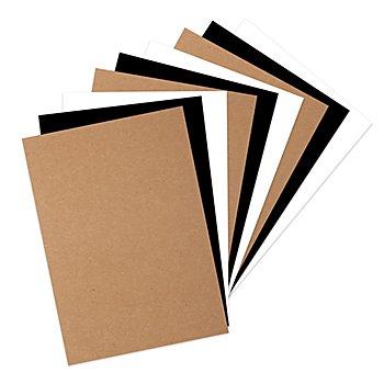 Papierblock, weiss-braun-schwarz, 29,7 x 21 cm, 60 Blatt