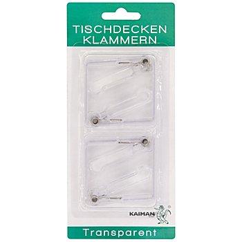Tischklammern 8er Pk., transparent