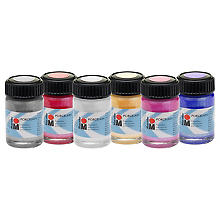 Marabu Porzellanmalfarben Set 'Glitter', 6x 15 ml