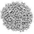Buchstabenwürfel, silber, 6 mm, 160 Stück