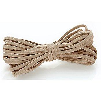 Veloursband, hellbraun, 3 mm, 10 m