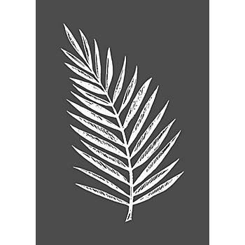 Rayher Pochoir pour sérigraphie 'feuille de palmier', 14,8 x 21 cm
