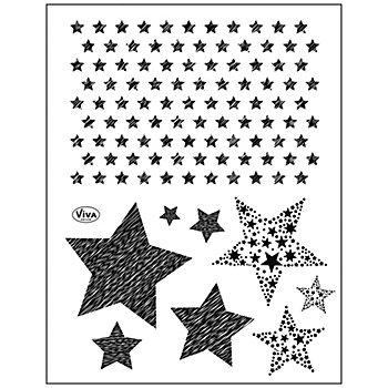 Silikonstempel-Set 'Sterne'