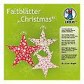 """Faltblätter """"Christmas"""", rot-grün-weiß, 15 x 15 cm, 120 Blatt"""