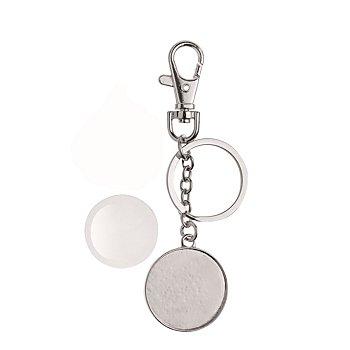 Cabochon Schlüsselanhänger, rund