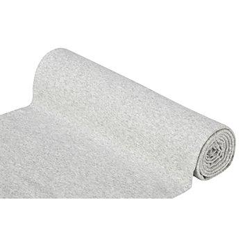Glatter Bündchenstoff 'Comfort', hellgrau-melange
