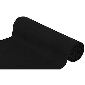 Glatter Bündchenstoff 'Comfort', schwarz
