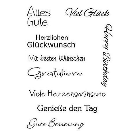 """Image of Clear Stempel-Set """"Glückwünsche"""""""