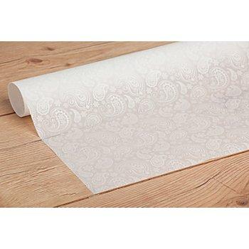 Papier transparent 'Paisley', blanc, 50 x 70 cm