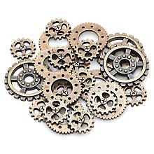 """Steampunk Accessoires """"Zahnräder"""", 20 Stück"""