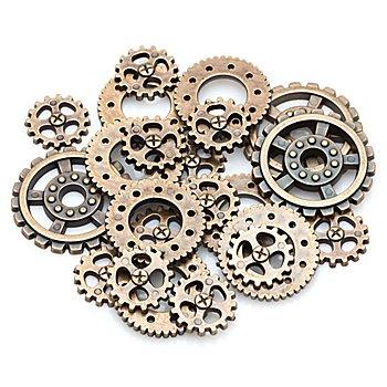 Steampunk Accessoires 'Zahnräder', 20 Stück