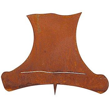 Chapeau de bonhomme de neige 'aspect rouille' en métal, marron, 18 cm