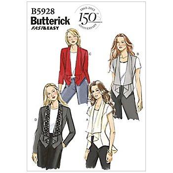 Butterick Patron B5928 'veste avec col châle'