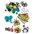 """Kit de bricolage """"animaux en pompons"""", multicolore, pour 24 animaux"""