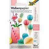 Wabenpapier Ice Cream, pastell, 20 x 33 cm, 4 Blatt