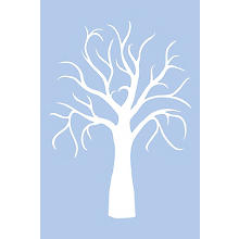 buttinette Schablone 'Hochzeitsbaum', 39 x 59 cm