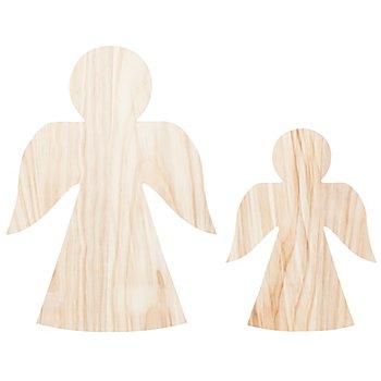 Engel aus Holz, 2 Stück