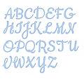 """Set de pochoirs d'embossage """"alphabet - majuscules"""", 26 pièces"""