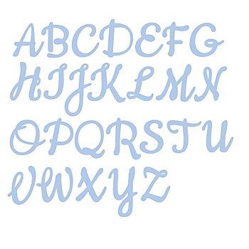 Set de pochoirs d'embossage 'alphabet - majuscules', 26 pièces