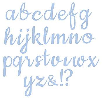 Set de pochoirs d'embossage 'alphabet - minuscules', 29 pièces