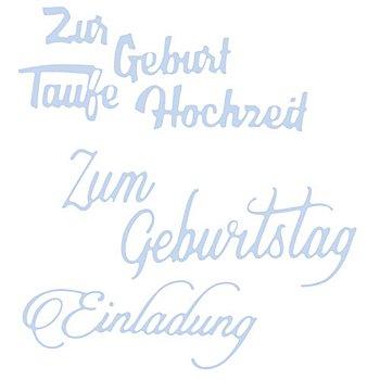 Stanzschablonen-Set 'Schriftzüge II', 3 Stück