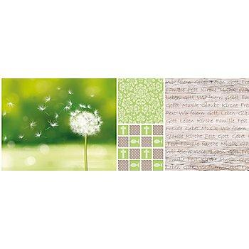 Ursus Transparentpapier-Streifen 'Kommunion', grün, 10 x 27 cm, 5 Streifen