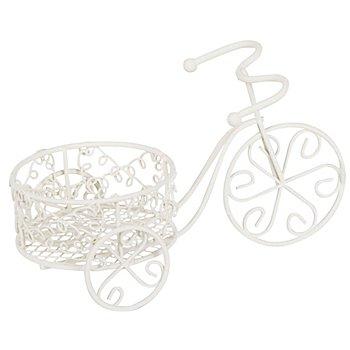 Pflanzgefäß 'Dreirad' aus Metall, 16 x 8 x 9,5 cm