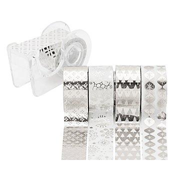 Deko-Tape-Mini, glänzend silber, 12 mm, 15 m
