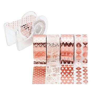 Deko-Tape-Mini, glänzend roségold, 12 mm, 15 m