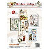 """3D-Kartenset """"Christmas Vintage 1"""", für 6 Karten"""