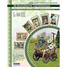 3D-Bastelmappe 'Gartenblumen', für 12 Karten