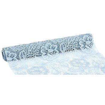 Tischband 'Rose', pastellblau, 30 cm, 5 m