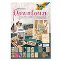 "Folia Papierblock ""Downtown"", braun-schwarz-türkis-rose, 24 x 34 cm, 20 Blatt"