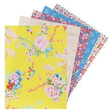 Set de papier décopatch, jaune/rouge/bleu, 40 x 30 cm, 5 feuilles