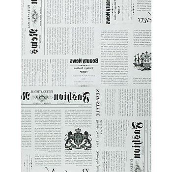 Set de papier décopatch 'journal', crème/noir, 39 x 30 cm, 3 feuilles