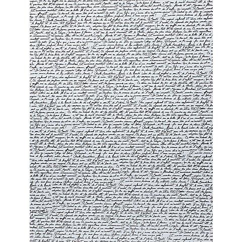 """Image of Décopatch-Papier """"Schriften"""", schwarz-weiss, 39 x 30 cm, 3 Blatt"""